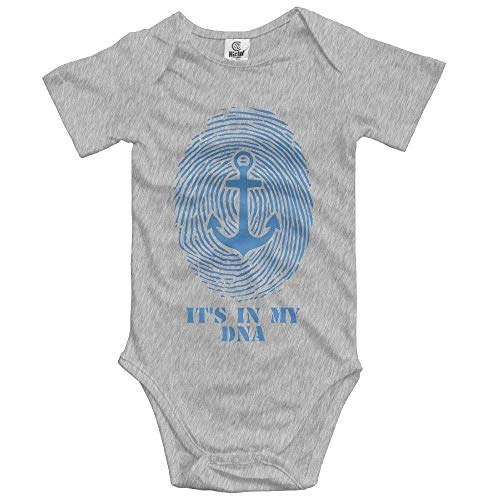 Unisex Baby's Climbing Clothes Captain It's in My DNA Bodysuits Short Summer Sleeved Comfortable Outfits Rompers for 0-24 Months