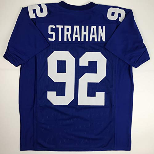 Unsigned Michael Strahan New York Blue Custom Stitched Football Jersey Size Men's XL New No Brands/Logos ()