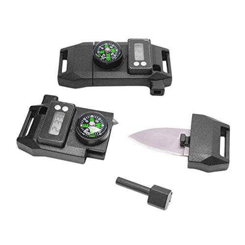 5 pcs Pack Waterproof Time Display Compass Whistle 5/8