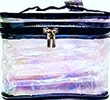 Cosmetic Bags-Sicara Clear Oval Train Case 16 pcs sku# 903929MA