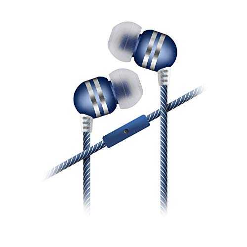 Sentry Industries Inc. HM282 Stingers Stereo Earbuds with Mic, Blue