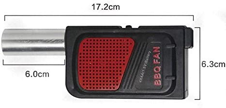 cherrypop Ventilateur portatif de Ventilateur de BBQ de Cuisson d'electricite portative pour Le Soufflet de feu de Barbecue