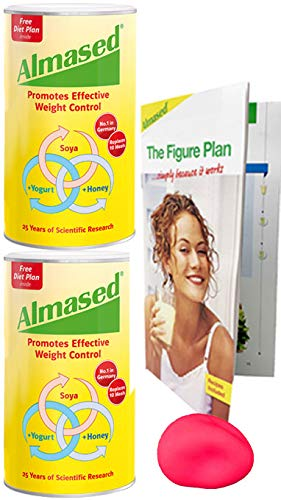 Almased Weight Loss Diet Protein Powder 2 Pack Free Stress Ball Supports Weight Loss Optimal Health And Maximum Energy 17 6 Ounce Each Lose