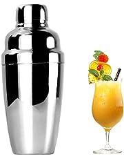 Coctelera de Acero Inoxidable- Shaker Cocktail, Con el Casquillo y el Tamiz del Jigger, 550ML Martini Shaker, Adecuado para Bares, Hoteles, KTV y Reuniones Familiares-RabbitStorm