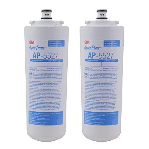 Aqua-Disinfected AP5527 5598101 Under Sink Reverse Osmosis Replacement Filter Cartridge,Pack of 2