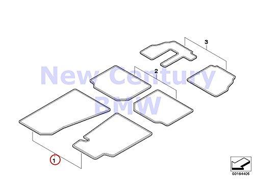 BMW Genuine Rubber Floor Mats Rubber Floor Mats E65 Front 74