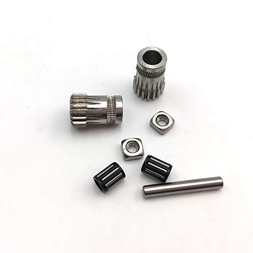 3D Printer Accessories Upgrade MK2/MK3 Parts Drive Gear Kit Cloned Btech Dual Gears Steel Pulleys Kit Gears Extrusion Wheel for DIY Prusa i3