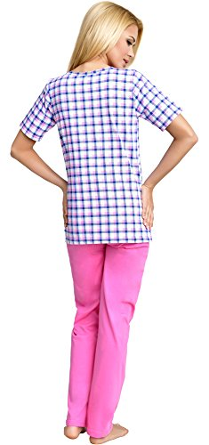 Be Mammy Mujer Lactancia Pijamas Dos Piezas Edith Rosa-1