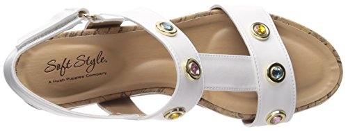 Oralee White Hush Vitello by Soft Wedge Women's Sandal Style Puppies wcqpUS8xX1