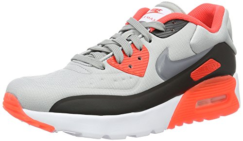 Nike Air Max 90 Ultra SE Wolf Grey/Cool Grey-Bright Crimson-Black (Big Kid) (5.5 M US Big Kid) by NIKE