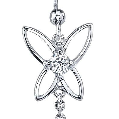 Peridot Dangle Earrings Sterling Silver Rhodium Nickel Finish Butterfly Design 1.50 Carats