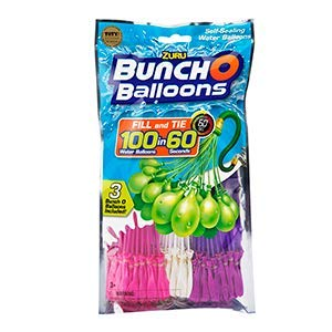 Zuru Bunch O Balloons Instant 100 Self-Sealing Water Balloons (COLORS VARY) (2 PACK)