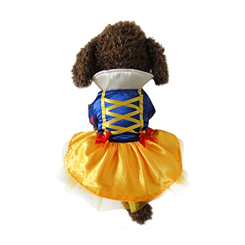 Pets In Disney Costumes (Vvhome Disney Snow White Cartoon Pet Custume Coat Dress for Small Medium Large Dogs (white, L))