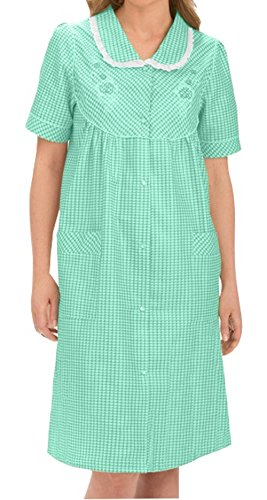 Comfortable Sleeve by Embroidered Green House Women's Dress Gingham Short Ezi HXqg8Ew