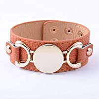 LUCILAS Medical Alert Bracelet Leather & Believe Leather Bracelet Monogram Bracelet pulseras Bracelet for Women Men