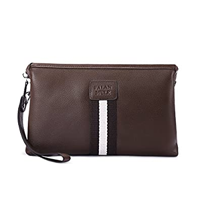 Large Wallet Clutch Hand Bag Men Bussiness for 6.5 inch Phone Minimalist Wristlet Zipper Closure Anti Theif Soft Leather