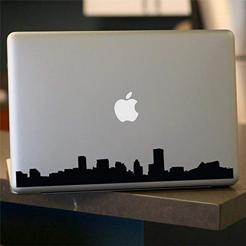 CELYCASY Baltimore Skyline Laptop Sticker - Vinyl Decal - Decal for Car, Window, Laptop, Wall, Maryland, Baltimore Cityscape