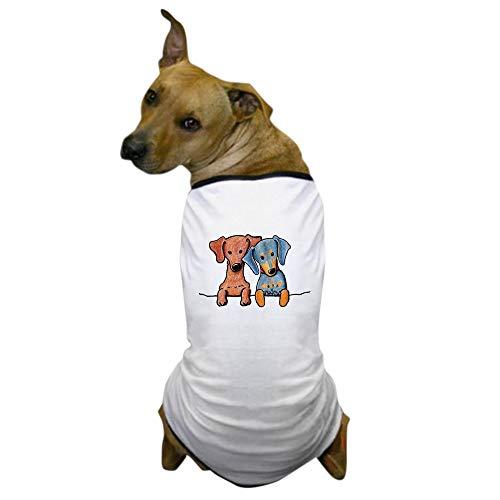 CafePress Pocket Doxie Duo Dog T Shirt Dog T-Shirt, Pet Clothing, Funny Dog Costume -