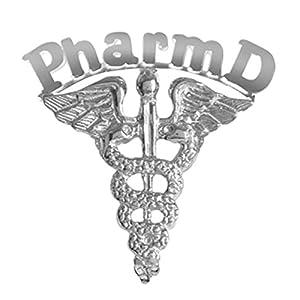 NursingPin Pharm D Graduation Pin in Silver for Doctor of Pharmacy