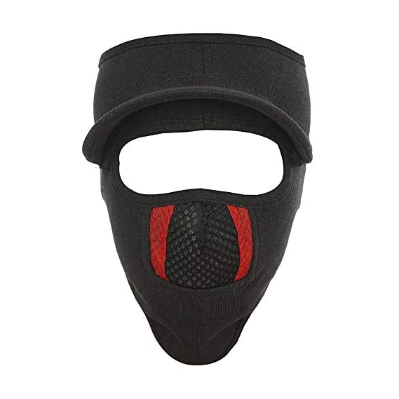 Gajraj Unisex Cotton Bike Riding & Cycling Anti Pollution Dust Sun Protecion Full Face Cover Mask with Air Filter Mesh