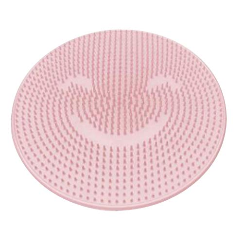 Shower Foot Massager Scrubber Non Slip Shower Foot Cleaner Improves Foot Circulation Remove Foot Dead Skin and Reduces Foot Pain Home Travelling Use (Pink)