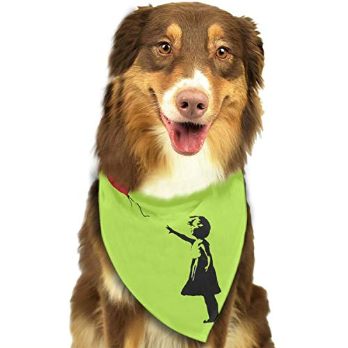 OURFASHION Banksy Heart Bandana Triangle Bibs Scarfs Accessories Pet Cats Puppies.Size is About 27.6x11.8 Inches (70x30cm).]()