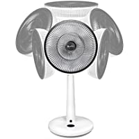 GreenTech Environmental pureFlow CIRCULATOR Fan Horizontal and Vertical Randomized Oscillating Movement Dual Blade Adjustable Fan with 12 speeds and Remote