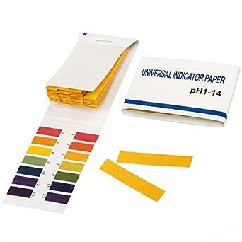TRIXES tornasol pH de 1 a 14 papel de prueba 80 tiras: Amazon.es: Amazon.es