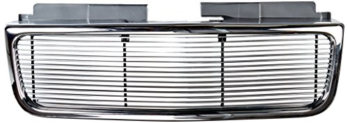 TRex Grilles 50380 Horizontal Aluminum Polished Finish Billet Assembly Grille W/OE Style Grille for GMC Sonoma Jimmy ()