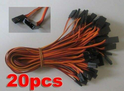 New 300mm 30cm Servo Extension Lead Wire Cable for Futaba JR 20pcs