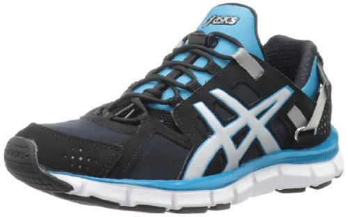 ASICS Women's Gel-Synthesis Running Shoe,Black/Silver/Island Blue,6.5 M US