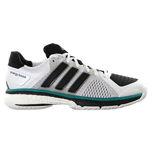 adidas Energy Boost Tennis Shoes White/Black/Clear Onix Grey 8 M US