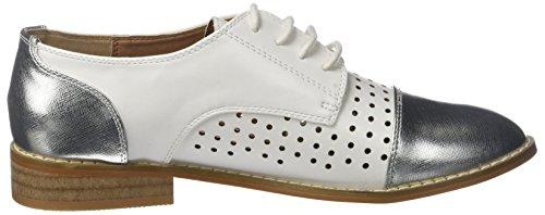 Zapatos Clara Vanessa Wu 03 Mujer Cordones Blanc Oxford De Para blanc qBOw5xOEp
