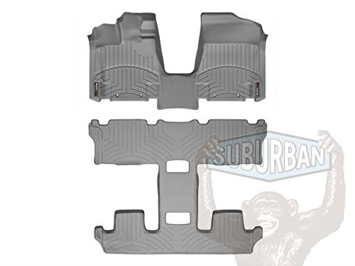 2011-2015 Nissan Quest-Weathertech Floor Liners-Full Set (Includes 1st and 2nd Row-Over The Hump)-Over the Hump - Quest Nissan