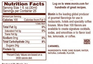 Amazon.com : Monin Flavored Syrup, Caramel, 33.8-Ounce Plastic Bottle (1 liter) : Grocery & Gourmet Food