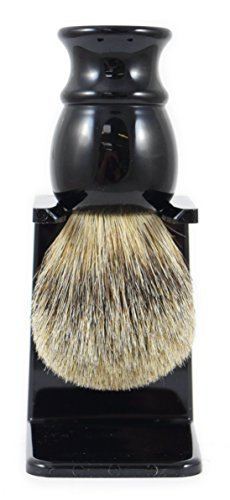 Executive Shaving Best Badger Hair Shaving Brush With Black Resin Handle And Drip Stand The Executive Shaving Company