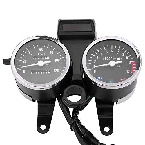 Motorfiets snelheidsmeter – motorfiets snelheidsmeter 1 stuk LED motorfiets accessoires snelheidsmeter kilometerteller…