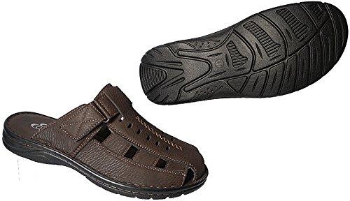 Herren Sabots Schuhe Sandalette Pantoletten Clogs Slipper 41 - 46 art.nr.1303 braun