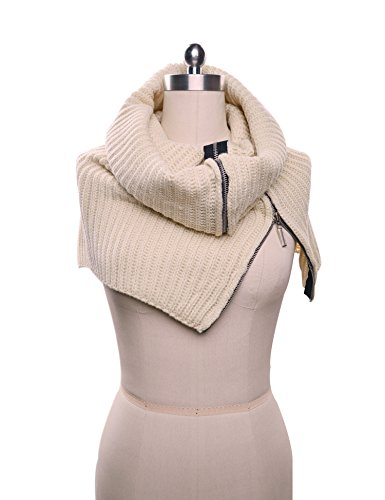 Alizeal Womens Knitted Zipper Scarf product image