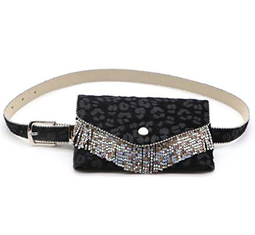 Womens Fashion Waist Bag Removable Leopard Belt Travel Cell Phone Bag