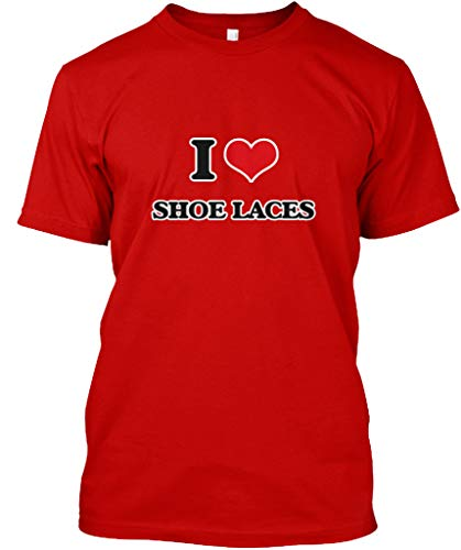 I Love Shoe Laces 4XL - Classic red Premium Tee - Premium Tee by She Lift (Image #2)