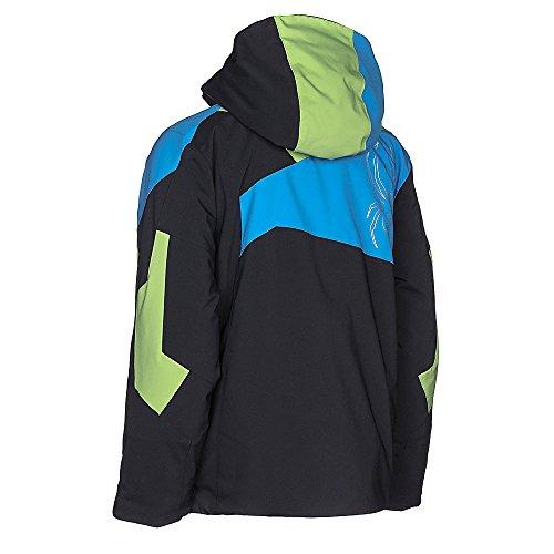 Spyder Kids Boy's Avenger Jacket (Big Kids) Black/Fresh/Fresh Blue 14 by Spyder (Image #8)