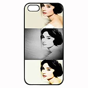 Black, iphone 5 Rubber Case - Audrey Hepburn Photo Design Durable Rubber Tpu Silicone Case Cover For iPhone 5 5S