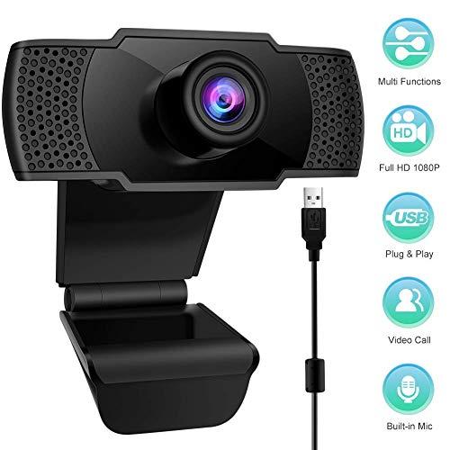 🥇 StillCool Cámara Web Full HD USB 1080P Cámara para PC con Micrófono Interno Cámara Web para La Enseñanza en Línea/Reunión de Negocios