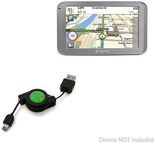 Portable Sync Cable for Navman MOVE120M BoxWave Navman MOVE120M Cable, Retractable miniSync