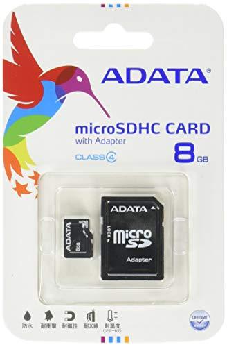 (ADATA 8GB microSDHC Class 4 Memory Card with Adapter (AUSDH8GCL4-RA1))