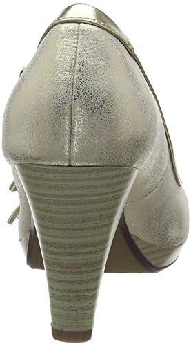 Beige Zapatos con Cerrada de 412281745950 Tacón Mujer para 5290 Beige Punta Metallics Bugatti nBqzRHIq