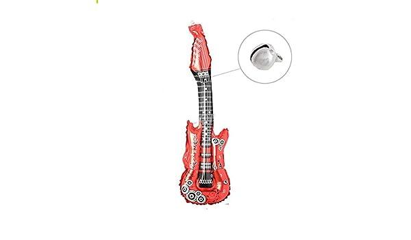 PvxgIo Molto Fan 85cm Inflable Instrumento Simulación Fiesta de Guitarra Musical Juguete Suministros Globos con Campana (Rojo): Amazon.es: Juguetes y juegos
