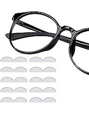 Neusbeschermers voor zonnebril zelfklevend, 12 paar plakken op zachte siliconen neusbeschermers 1mm zwart antislip gel kussens 1mm lenzenvloeistof pads voor zonnebril spektakels Prime