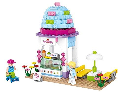Sluban Play Bricks Girls Dream Ice Cream Shop, Multi Colour